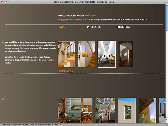 Maccormick simoninan architects all sorts websites for Architectural websites
