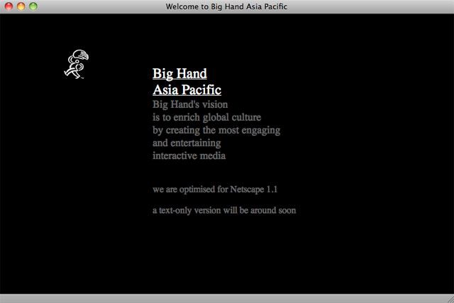 Big Hand Asia Pacific intro page