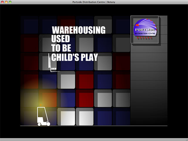 Portside Distribution Centre opening screen