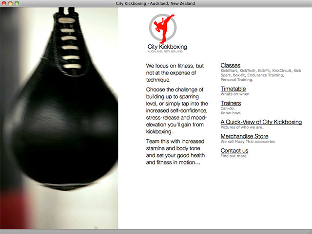 City Kickboxing homepage