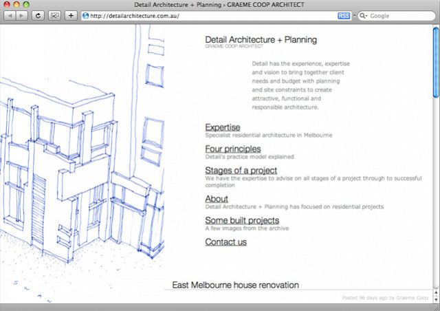 Detail Architecture homepage