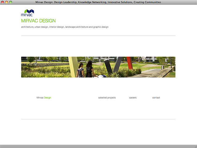 Mirvac Design homepage