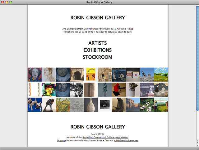 Robin Gibson Gallery homepage