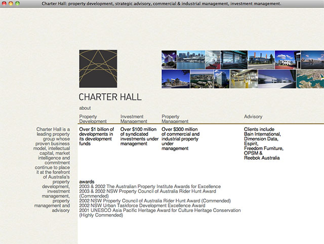 Charter Hall (client design)