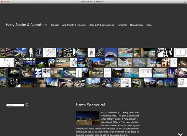 Harry Seidler Associates 2011 Homepage