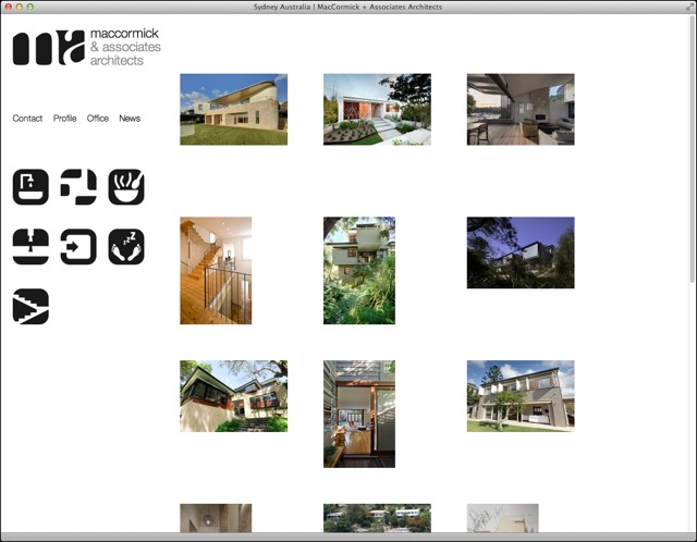 MacCormick Associates Architects website entry