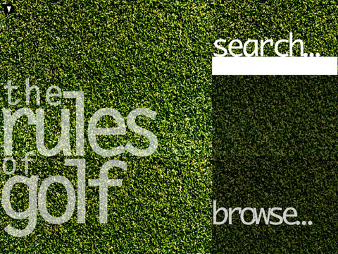 Golf Rules homepage