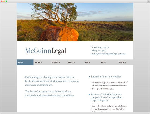 McGuinnLegal entry page