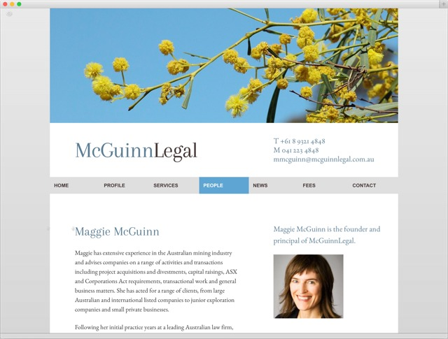 McGuinnLegal detail page