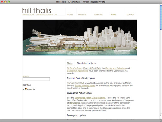 Hill Thalis homepage