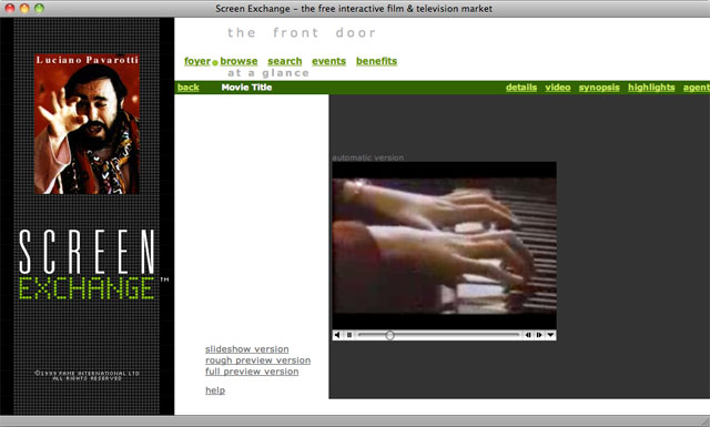 Screen Exchange video page