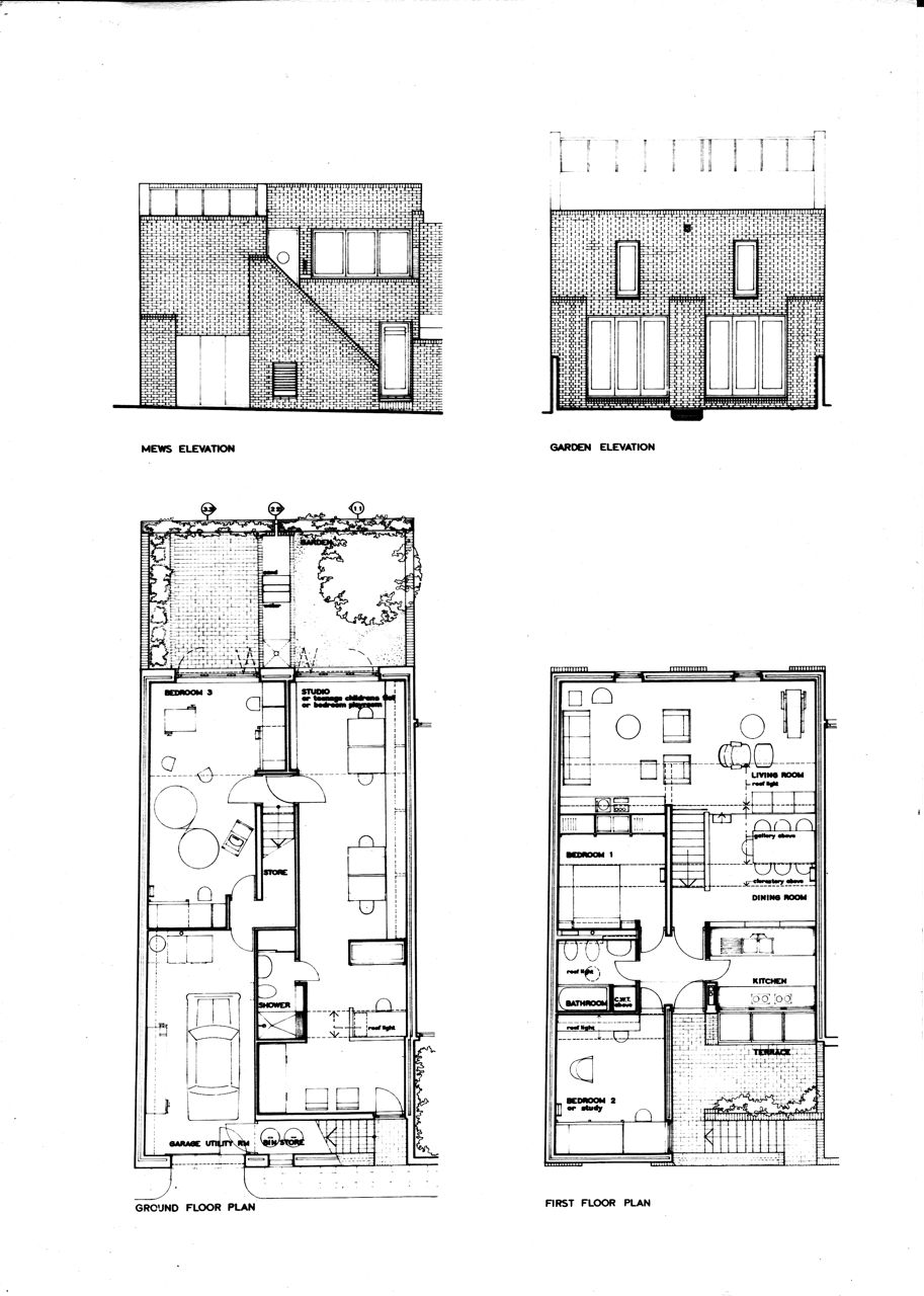 tom kay 1971 house studio 22 murray mews london nw1 architect. Black Bedroom Furniture Sets. Home Design Ideas