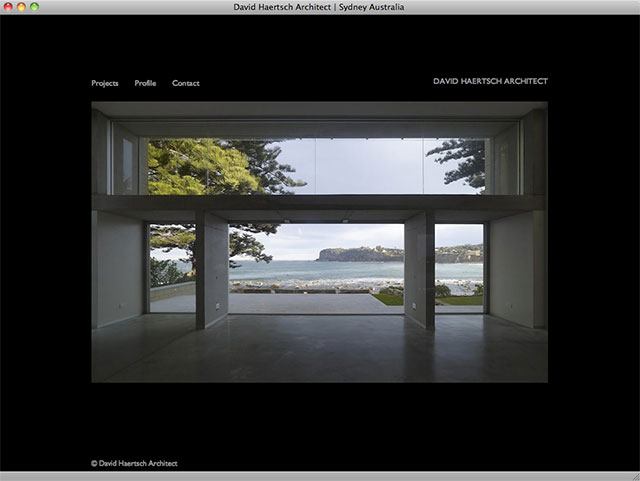 David Haertsch Architect homepage