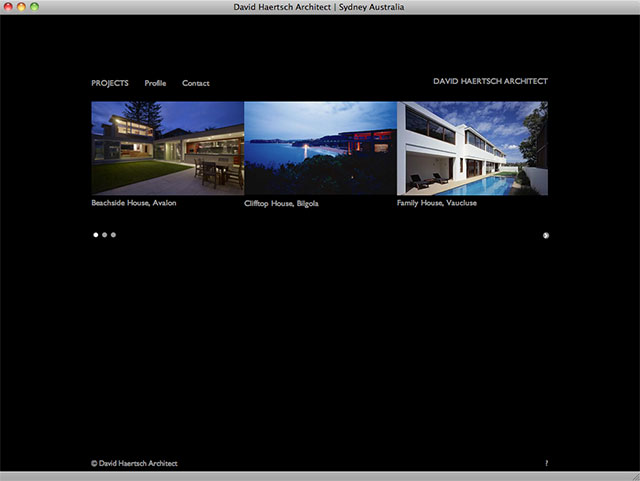 David Haertsch Architect project listing page
