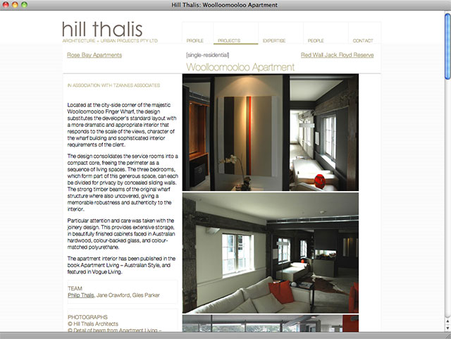 Hill Thalis detail page