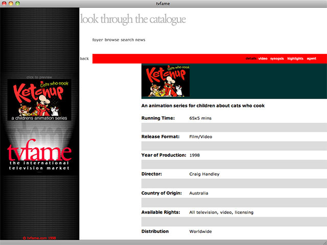 tvfame movie detail page