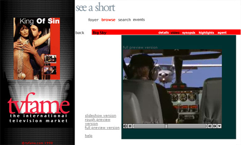 tvfame movie video page