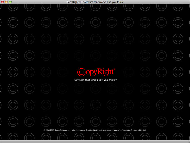 CopyRight splash screen