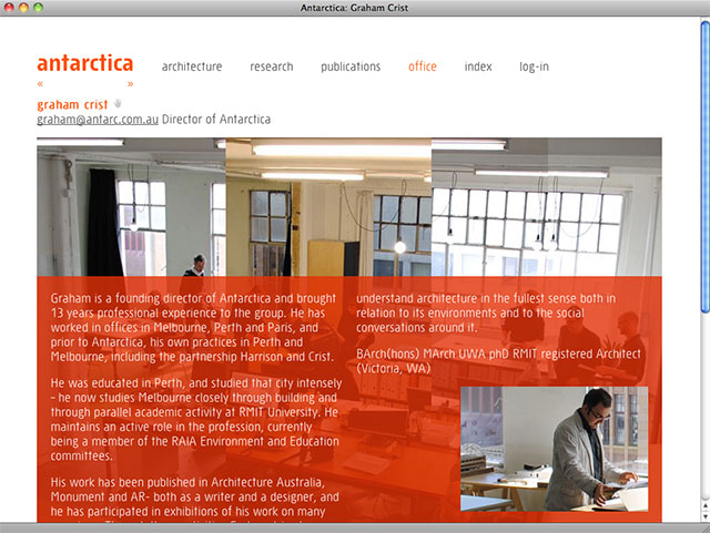 Antarctica office page