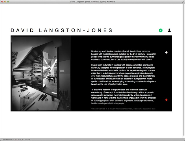 David Langston Jones Architect office page