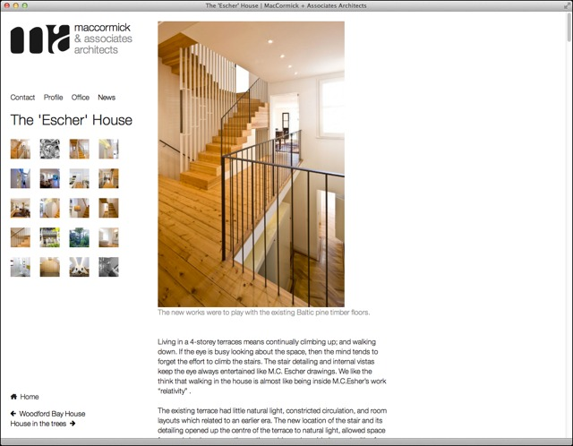 MacCormick Associates website detail page