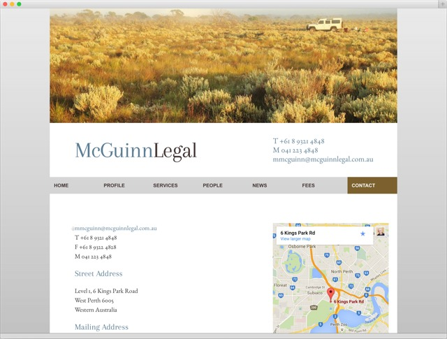 McGuinnLegal contact page